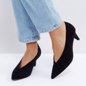 ASOS STRIKE Black Mid Heels Shoes - Liyanah