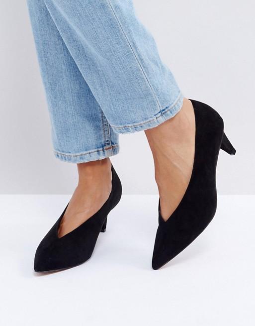 ASOS STRIKE Black Mid Heels Shoes - Liyanah
