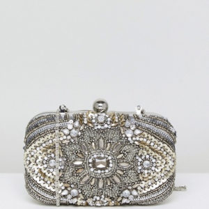True Decadence All Over Embellished Box Glitter Clutch Bag - Liyanah