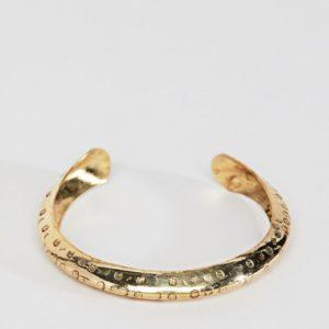 ASOS DESIGN Textured Flat Edge Cuff Bracelet - Liyanah