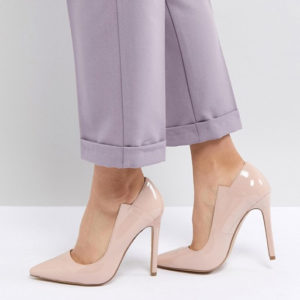Lost Ink Patent Nude Court Shoes - Liyanah