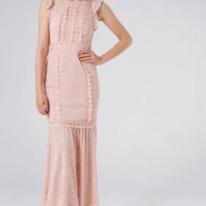 Forever New Embellished Trim Pink Maxi Dress - Liyanah