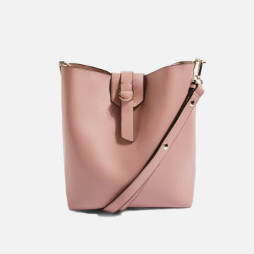 Hobo pink leather look bag - Liyanah