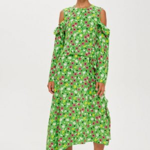 Topshop Waterfall Green Dress by Boutique - Liyanah