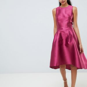 Chi Chi London sateen high low hem dress - Liyanah