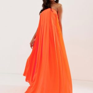 ASOS DESIGN bandeau pleated column maxi dress - Liyanah