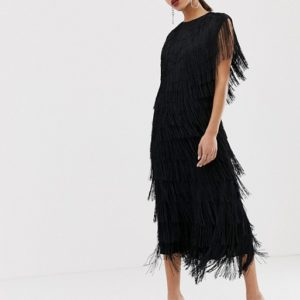 ASOS EDITION fringe column midi dress - Liyanah