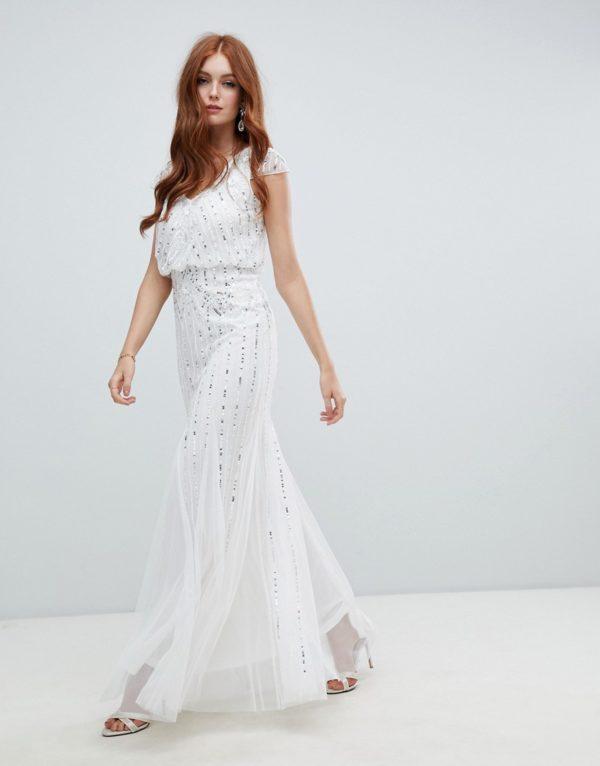Amelia Rose 2-in-1 embellished wedding dress in ivory - Liyanah