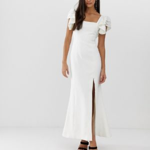 C Meo Collective heart of me ruflfe ivory white gown - Liyanah