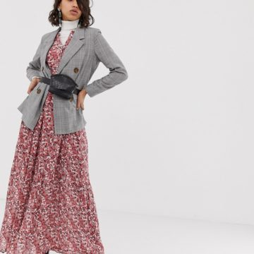 Custommade long brick dust printed dress - Liyanah