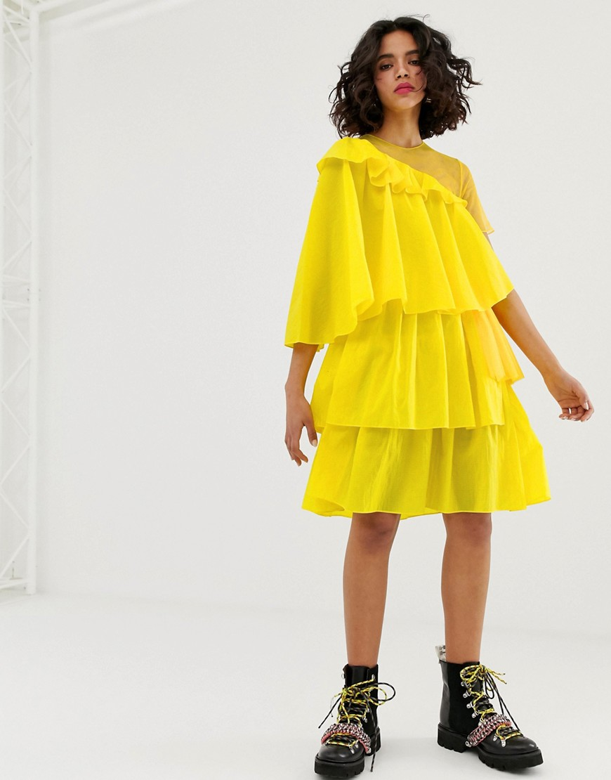 House of Holland rip stop extreme frill dress