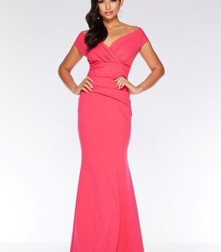 Quiz V Neck Wrap Front Maxi Dress - Liyanah
