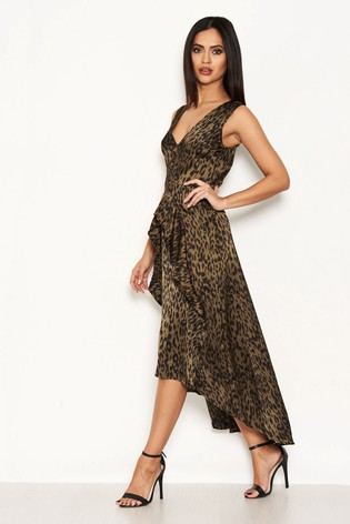 AX Paris Animal Print Satin Dress