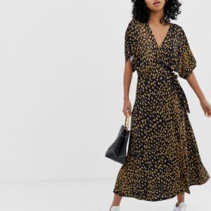 Whistles Exclusive animal print wrap dress - Liyanah