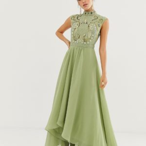 ASOS DESIGN maxi dress with embellished mirror bodice
