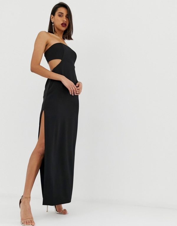 ASOS EDITION bandeau column dress with cut out back