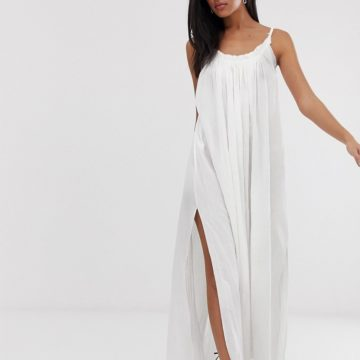 AllSaints romey maxi dress with low back