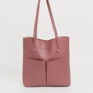 Claudia Canova Unlined Double Pocket Shopper in Rose