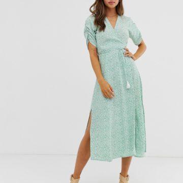 Faithfull Chiara midi wrap dress