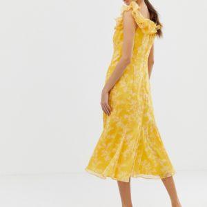 Keepsake Embrace ruffle midi dress