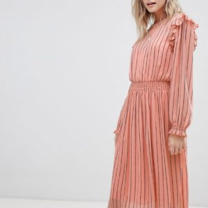 Maison Scotch allover printed dress with elastic in waist