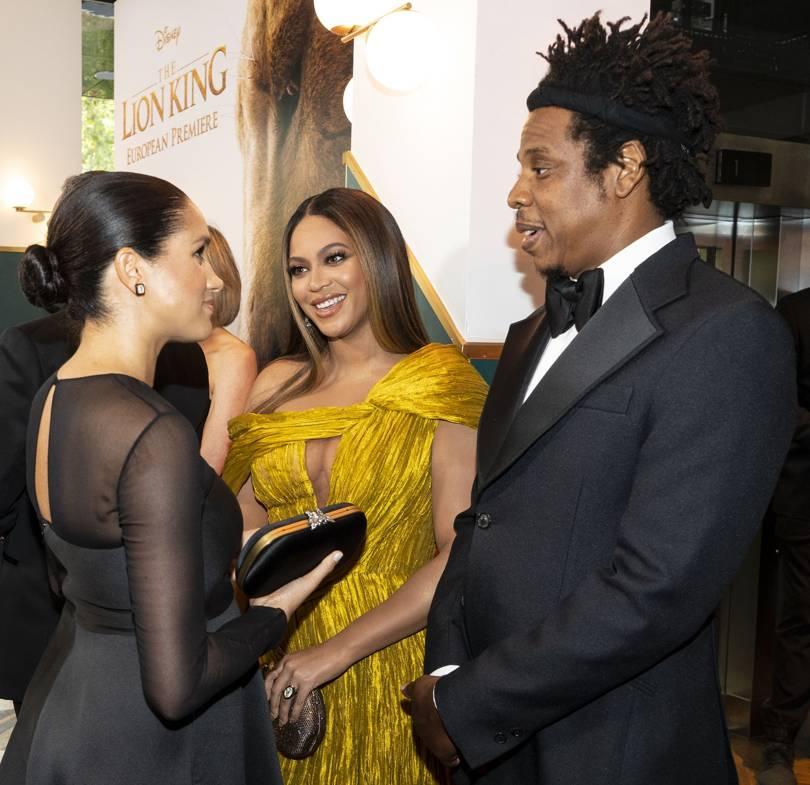 Prince Harry and Meghan Markle and Beyonce and Jay Z at Lion King Premiere