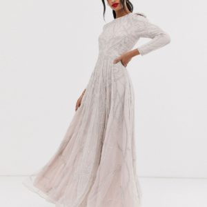 ASOS EDITION nouveau crystal embellished maxi dress - Liyanah