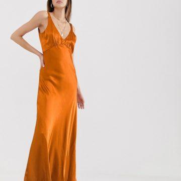 Gestuz Tilja satin maxi dress - Liyanah