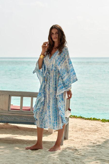MELISSA ODABASH Robin Snake Print Maxi Dress with Silk - Liyanah