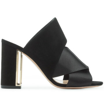 NICHOLAS KIRKWOOD Nini Mules in Satin and Suede - Liyanah