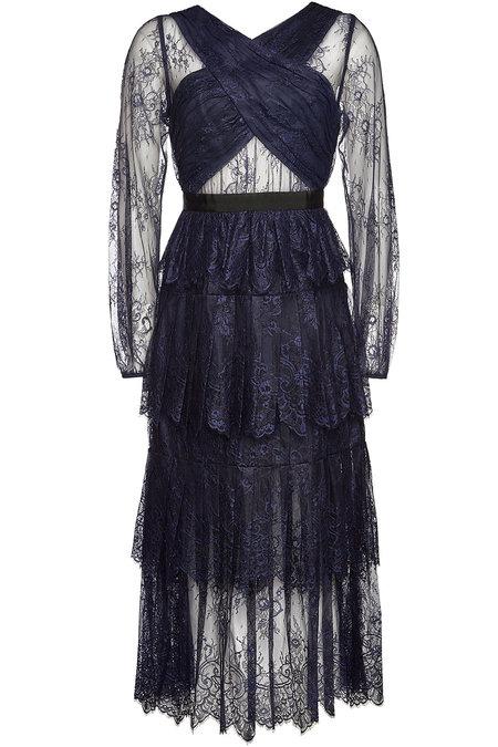 SELF-PORTRAIT Maxi Dress with Lace - Liyanah