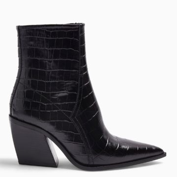 Topshop HONOUR Leather Western Boots - Liyanah