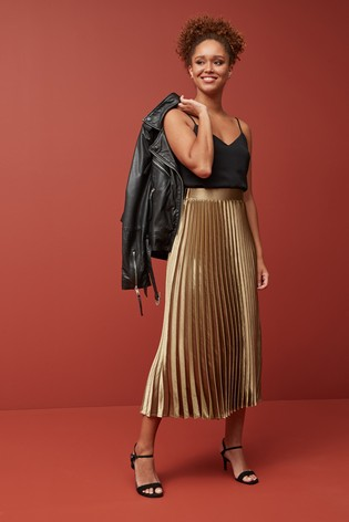 Metallic Pleat Skirt - Liyanah
