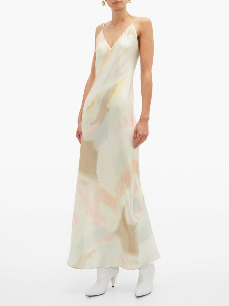 RAT & BOA Liberty pastel tie-dye slip dress