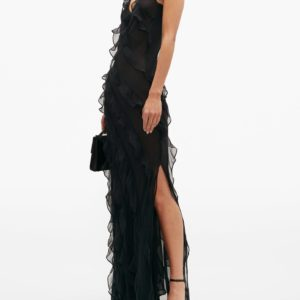 RAT & BOA Selena ruffled chiffon maxi dress - Liyanah