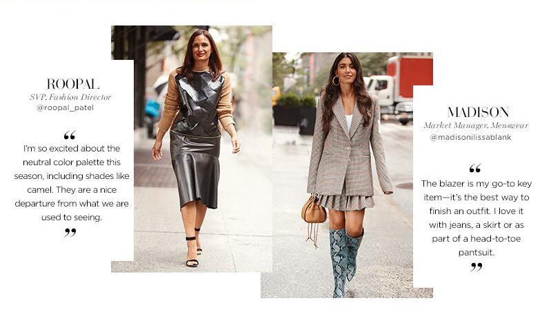 Saks Fifth Avenue - New York Fashion Week Radar Edit Street Style - Roopal SVP Fashion Director x Madison Market Manager Menswear - Blazer Skirt Dress - Liyanah