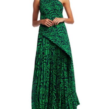 Solace London Emelyne Printed One-Shoulder Maxi Dress - Liyanah