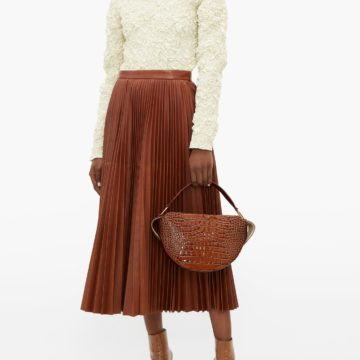 WANDLER Yara crocodile-effect leather bag - Liyanah