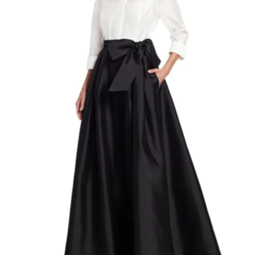 Teri Jon by Rickie Freeman Collared Taffeta Ball Gown - Liyanah.co