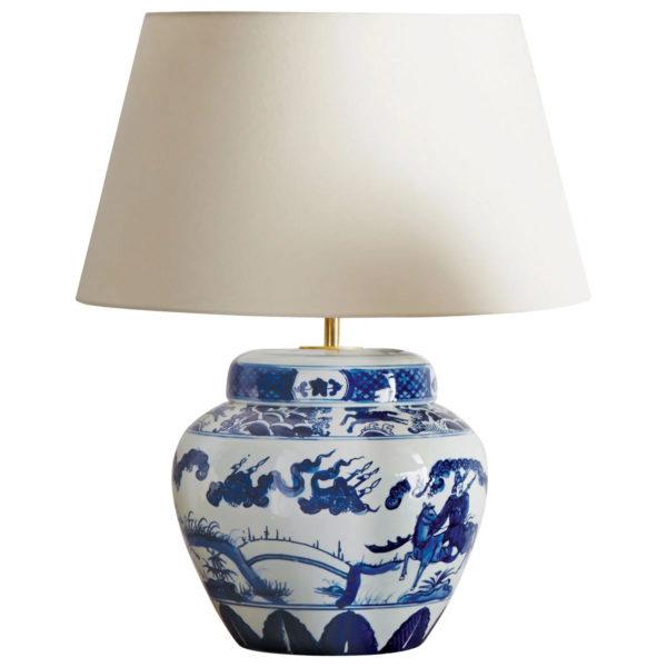 OKA UK Kraakware Ceramic Chinese Table Lamp - Liyanah Home